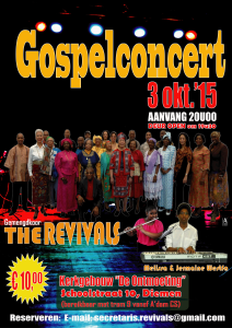 Gospelconcert, The Revivals - za 3 okt'15